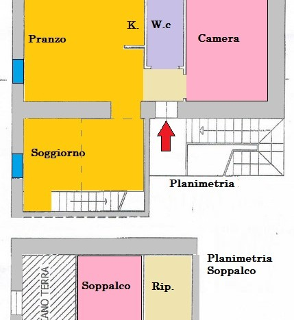 Caratteristica Mansarda Trilocale Centro Abetone