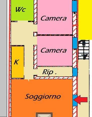 Cutigliano Appartamento Trilocale con Camino