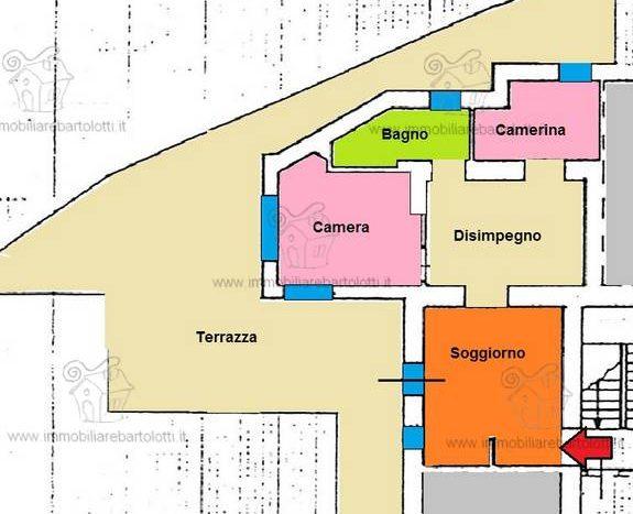 Abetone Centro Trilocale con Ampia Terrazza