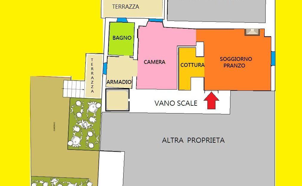 Dogana Nuova Mansarda Bilocale con Giardino - A 10